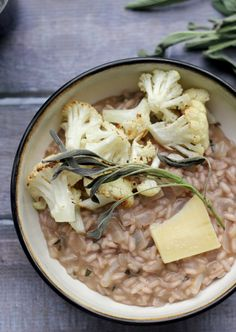 Turn risotto into an every night kind of meal with this roasted cauliflower, sage, and almond risotto.