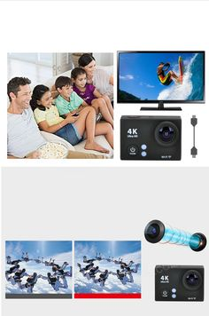 """UHD 2"""" LCD 12MP 1080P / 60fps Wi-Fi Waterproof Action Camera - Black - Free Shipping - DealExtreme Smartwatch, Apple Technology, Cool Gadgets, Gopro, Wi Fi, Polaroid Film, Action, Free Shipping, Black"""