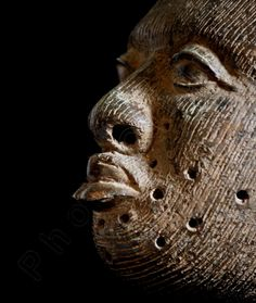 Ethnographic Art Image Series / Closeup Portrait of Bronze Ife Yoruba Head / Tribal Art–African Art / High Res Print/ Fine Art Photography by PhotoClique on Etsy