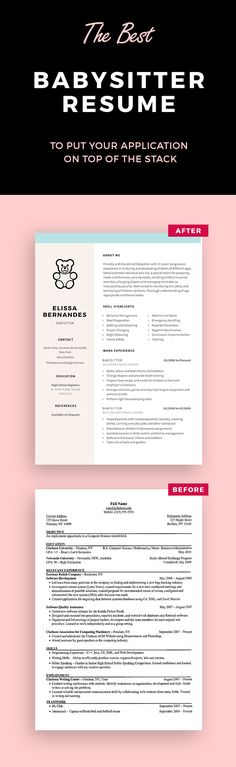 Babysitter Resume Sample | Resume Examples | Pinterest | Resume