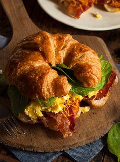Buy Ham and Cheese Egg Breakfast Sandwich by on PhotoDune. Ham and Cheese Egg Breakfast Sandwich on a Croissant Breakfast Sandwich Recipes, Brunch Recipes, Croissant Breakfast Sandwich, Starbucks Breakfast, Bebidas Do Starbucks, Comfort Food, Cafe Food, Aesthetic Food, Food Cravings