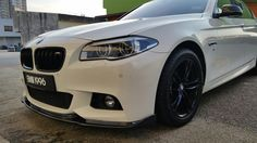 7731d60ec0c BMW White F10 with Carbon Fiber Hamann Lip. Horch Motorsports 017-210 5779