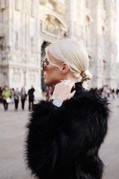 Italian Leather and Fur Milan Italy Fall 2015 street style // Charleston Fashion Blogger Dannon Like The Yogurt
