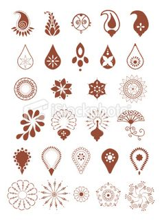 Mehndi Designs (Vector) Royalty Free Stock Vector Art Illustration