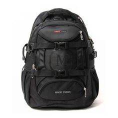 BLACK Waterproof Unisex Travel Backpack Oxford Shoulder Bag 15'' Laptop Backpack
