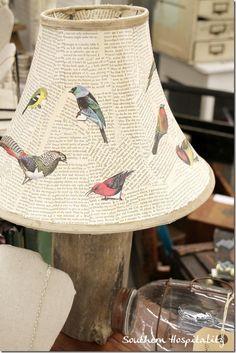 Bird lampshade A decoupage birdie lampshade.