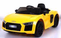 Audi R8 Spyder elektromos kisautó sárga színben!  http://www.kicsikocsibolt.hu/akciok/audi-r8-spyder-s%C3%A1rga-elektromos-kisaut%C3%B3-12v-detail.html