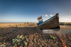 An old fishing boat at Dungeness, Kent, UK.