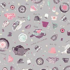 Art Gallery Fabric - Wonderland - Pret-tea State - Katarina Roccella - Choose Your Cut Adventures In Wonderland, Alice In Wonderland, Fabric Art, Fabric Design, Grey Tea, Art Gallery Fabrics, Bird Cages, Panel Art, Modern Fabric