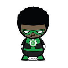 Roscoe as Hal Jord...I mean... John Stewart #iltopia #halloween #cosplay #blackheroesmatter #blacklivesmatter #justiceleague #greenlantern