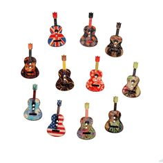 26  18mm Mix 50pc Prints Painted Wooden Buttons Guitar Clothing Accessories  Wood Sewing Decorative Buttons aaf4c3269d5f