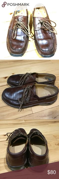 Men's Red Wing shoes Red Wing brown dress shoes / casual shoes size 11.5 D leather upper balance man-made material model number 4050. They are in excellent condition and very comfortable. I'm selling them at an excellent price so get them today yeah! Red Wing Shoes Shoes Oxfords & Derbys