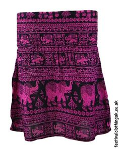 Clothing, Shoes & Accessories Women's Clothing Sareena Womans Elasticated Skirt Elephant Design Size 16 Buy One Give One