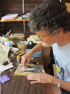 How To Make A Woodblock Print. Artist and author, Andrea Cheng, demonstrates with Etched In Clay.