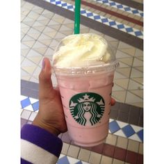 Cotton Candy Frappucino at Starbucks   Macbarbie07 told me about this