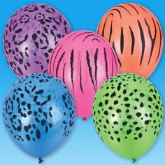 11-inch Qualatex Neon Safari Balloon (Bulk Pack of 50 Balloons) at theBIGzoo.com