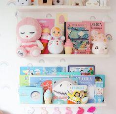 I just love this shelf space by @kidsdesignlife with our mushroom light 💗 #girlsroominspo #littlebelle #handmade #girlsroomdecor #nurseryinspo #nurserydecor