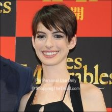 Anne Hathaway short hair at 'Les Miserables' Tokyo Premiere