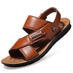 Oferta: 50.99€ Dto: -61%. Comprar Ofertas de CUSTOME Hombres Playa Zapatos Sandalias de Ocio Zapatilla de Cuero barato. ¡Mira las ofertas!