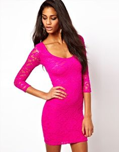Enlarge ASOS Body-Conscious Dress in Lace
