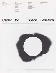Jacqueline Casey / Institute of Technology / Poster for Center for Space Research Symposium / Poster / 1968