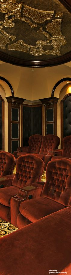 Home Theater Bliss, Lets Stay Home, Rich Life, Next Door, Entertainment Room, Ceiling Design, Luxury Life, Home Theater, Old World