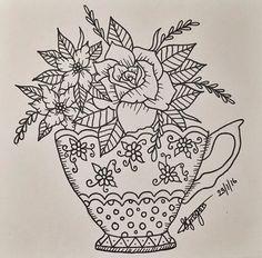Cute teacup design. #tattoo #cute #love #flower #rose #tattooapprentice #art #design #tea #cup