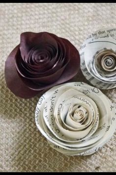 Diy Rolled Paper Roses  #Various #Trusper #Tip