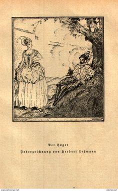 Der Jäger (Federzeichnung Von Herbert Lehmann) / Druck, Entnommen Aus Zeitschrift/ 1925 - Livres, BD, Revues