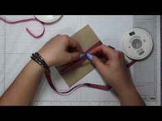 Tying the Perfect Flat Knot: Quick Tip Tuesday How To Tie Ribbon, How To Make Bows, Ribbon Bows, Ribbons, Good Tutorials, Bow Tutorial, Card Making Techniques, Diy Invitations, Scrapbook Supplies