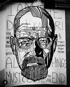 Walter White - Breaking Bad - pen drawing fanart