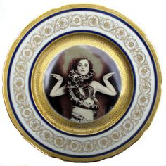 Snake Lady Portrait Plate  by Beat Up Creations