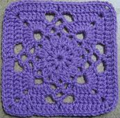 """Ravelry: 365 Day 36 -- Gothic Square in book """"Crochet Blocks for Blankets, Throws, and Afghans: Crochet Squares to Mix and Match"""" by Jan Eaton (Jan Pattern No 94 on pg 80 Crochet Squares Afghan, Crochet Motifs, Crochet Blocks, Granny Square Crochet Pattern, Crochet Stitches Patterns, Crochet Granny, Granny Square Blanket, Knit Crochet, Granny Squares"""