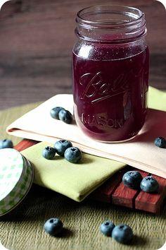 Blueberry Infused Vodka {mind-over-batter.com}