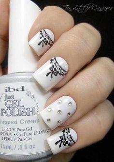 black and white nail art design 2016