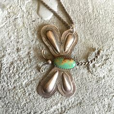 Vintage Turquoise Dragonfly Fred Harvey Era by LoveandArrow