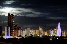 Panorama da cidade de Maringá.  Panorama of the city of Maringá.