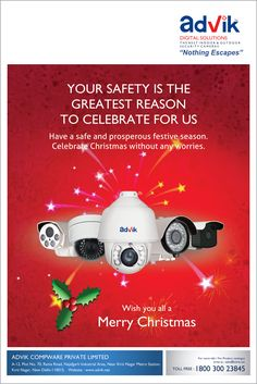 Enjoy peace of mind this holiday season while Advik #CCTVs keep an eye on your valuables. #MerryChristmas