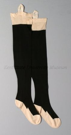 1870 Stockings Culture: English Medium: silk