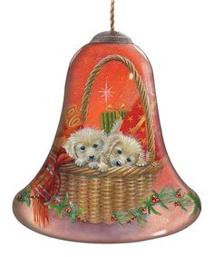 Another great find on #zulily! Puppies for Christmas Ornament #zulilyfinds