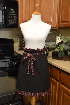 Half Apron Oriental Style Fully lined  Ready to Ship by NancysNeedfulThings on Etsy