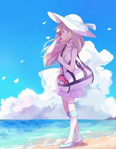 Lillie: Pokemon Sun and Moon ィッィェ—— ポケモン Pokemon Moon, Pokemon Fan Art, Cute Pokemon, Pokemon Pokemon, Images Kawaii, Equipe Pokemon, Fanart Manga, Pokemon People, Pokemon Pictures