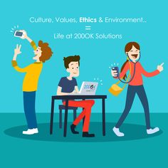 Company Culture is the product of a company's values, expectations and environment @200OKSolutions