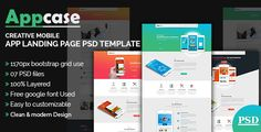 AppCase App Landing Page Template by themexone  AppCase App Landing Page PSD Templateis designed with a clean look and feel, stylish & modern trend that totally flexible to brin