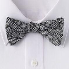 Croft and Barrow Plaid Pretied Bow Tie