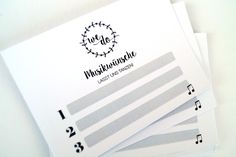 Hochzeitsdeko - 24 Musikwunschkarten für die Hochzeit - ein Designerstück von FlitterBOOK bei DaWanda