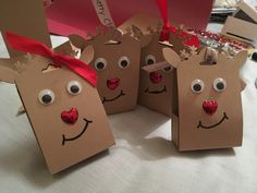 Cute little reindeer boxes using tag punch 18cm x 5cm then decorate!