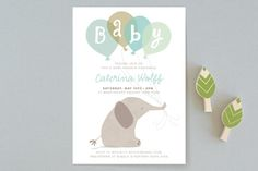 color me grey Baby Shower Invitations by peetie design at minted.com