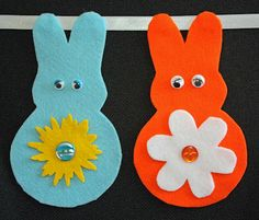 Craft and Other Activities for the Elderly: Felt Easter Bunny and Flowers Bunting - Printable Templates!