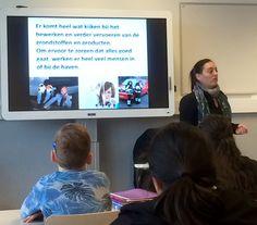 3 x lesgeven aan groep 7 van de Zalmplaatschool in Hoogvliet via Port Rangers. Over beroepen in de haven en de effecten van haventransport op je gezondheid.